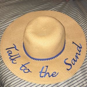 Adorable Straw Beach Hat Talk to the Sand